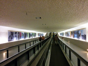 Photo: A very long serious of travelators in arrival at Charles De Gaulle