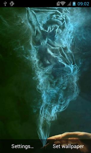 Smoky girl live wallpaper