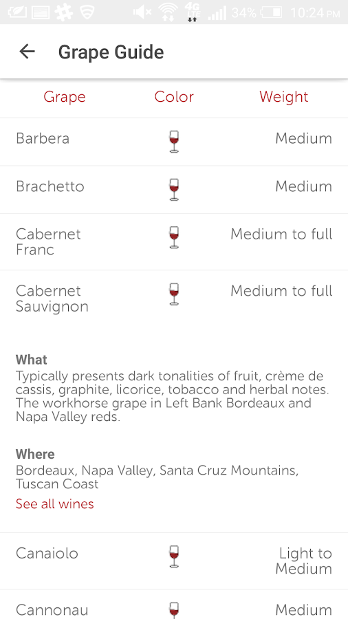 Vinous: Wine Reviews & Ratings- screenshot