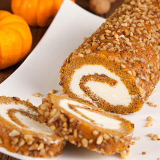 Pumpkin Roll with Cream Cheese Filling, sugar free