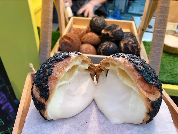 一顆$45的泡芙跟菠蘿麵包一樣大/吃一顆就好滿足/新崛江散步甜點/酥芙泡芙(可宅配)