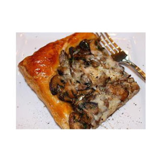 Mushroom Tart with Three Cheeses