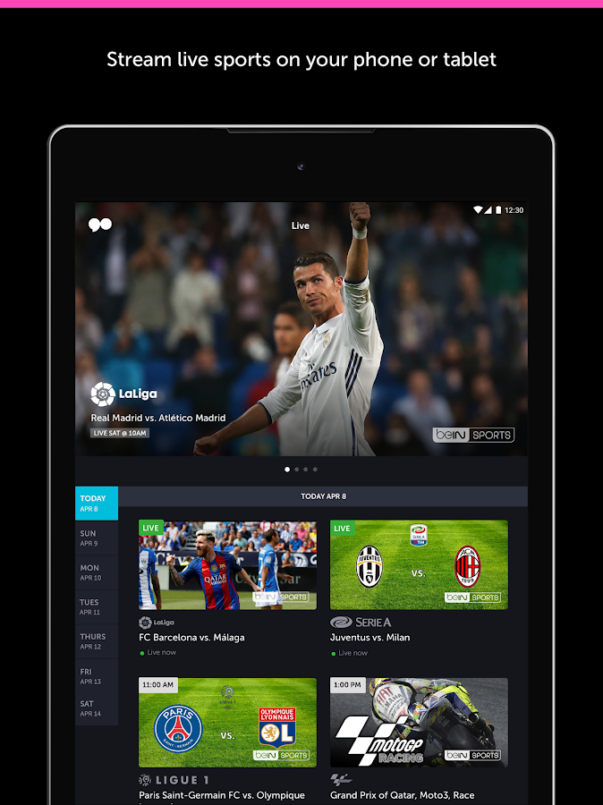 go90 - Stream TV & Live Sports: captura de pantalla