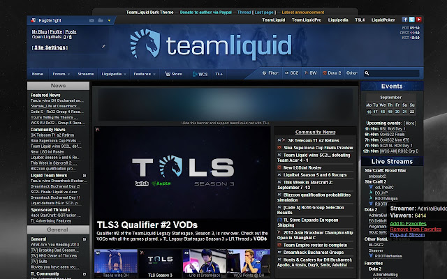 Teamliquid Dark Theme