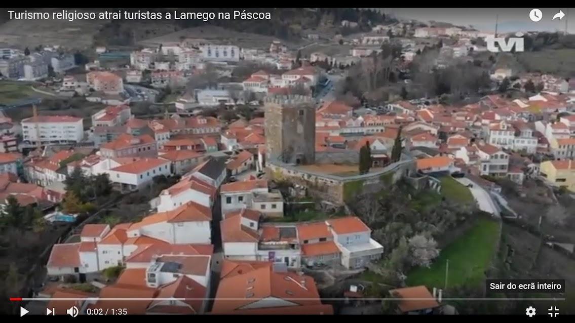 Vídeo - Turismo religioso atrai turistas a Lamego na Páscoa