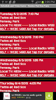 Screenshot of Schedule Boston Red Sox fans