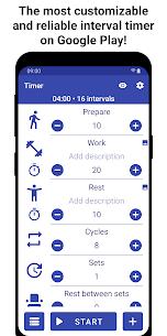 Tabata Timer Apk : Interval Timer Workout Timer HIIT 1