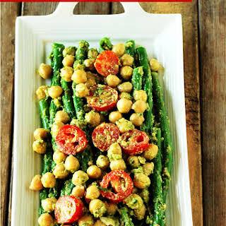 Asparagus And Chickpeas Pesto.