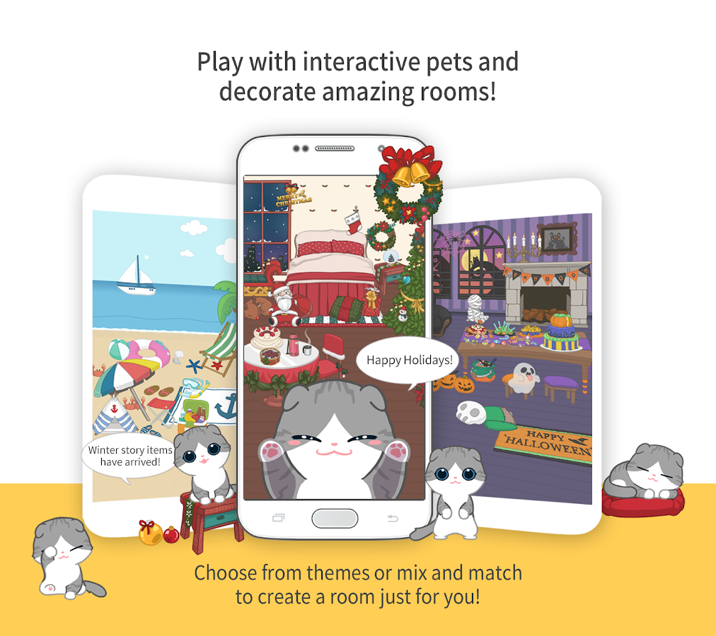 Create A Room hellopet - cute cats, dogs and other unique pets - android apps on