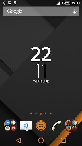 XZ Lollipop Theme Orange Black