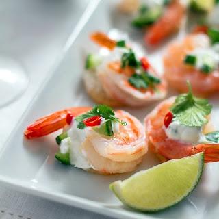 Mango Tzatziki Shrimp Bites