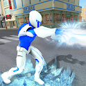 Snow Storm Super Human: Flying Ice Superhero War icon