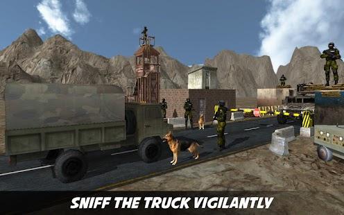 Border Patrol Sniffer Dog - náhled