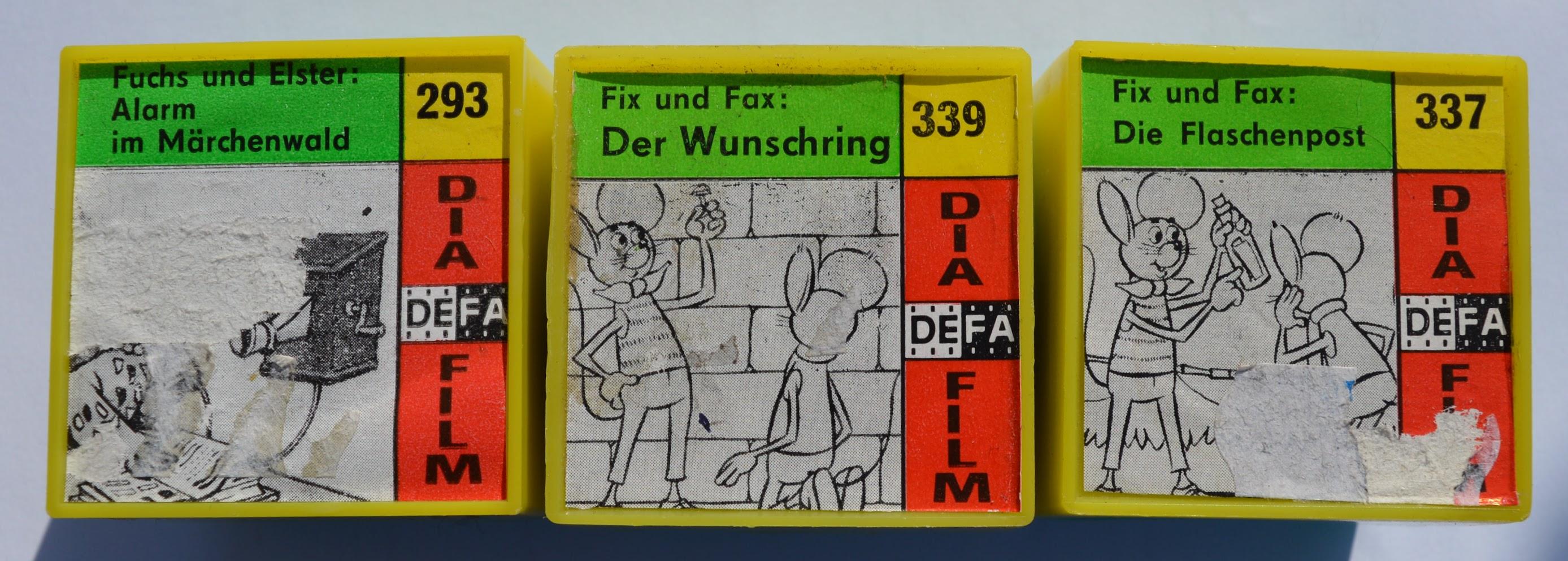 DEFA Dia-Filme für die Laterna Magica Fuchs und Elster, Fix und Fax