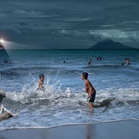 Beach Boys by Pelukis Badai - Babies & Children Children Candids