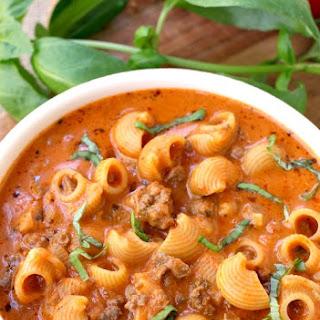 Beefy Tomato Soup