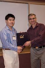 Photo: Leo Hung Tai Kam accepting the Jim and Donna Gray Endowment Award.