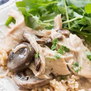 Crockpot Mushroom Chicken.
