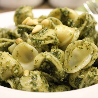 Orecchiette Pasta with Pesto.