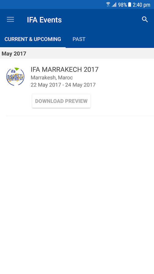 IFA Conferences- screenshot