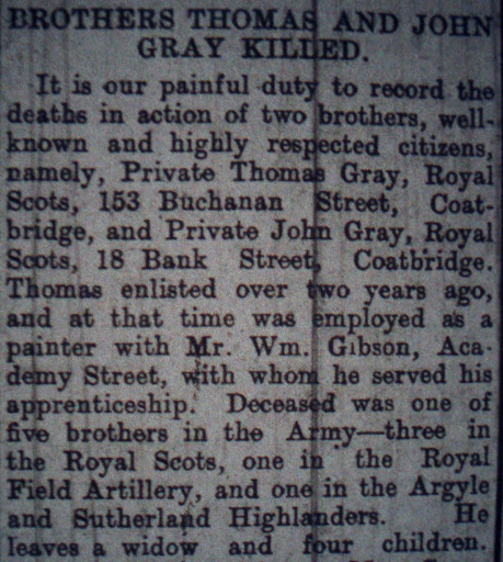 John Gray newspaper clipping