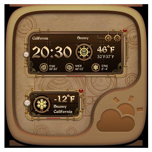 Mechanical Punk GO Weather Widget Theme