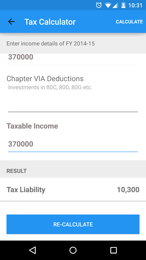 Income tax return filing App for India- screenshot