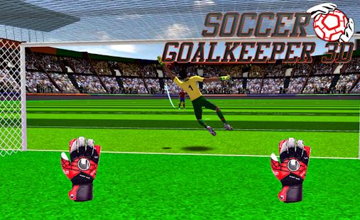 Fotbalový brankář 3D - náhled