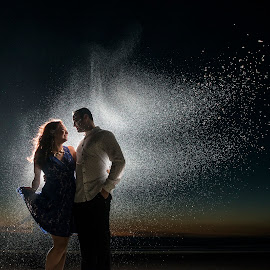 Spirits Of Love by Yansen Setiawan - Wedding Other ( lovers, silhouette, sunset, couple, night shoot, engagement )