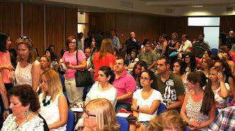 Alumnos de los cursos de verano de la UAL en Purchena del año pasado.