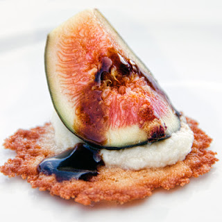 Fresh Figs on Parmesan Crisps.