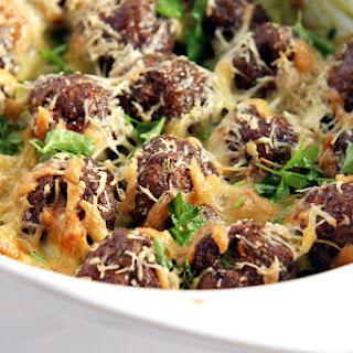 Spinach Meatball Potato Casserole.