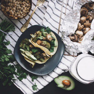 Avocado + Broccoli Tacos Verdes | Vegan + Gluten Free