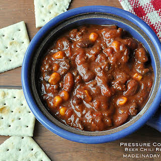 Pressure Cooker Spicy Beer Chili.