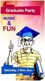poster maker poster designer ad maker app report on mobile action