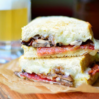Bourbon Bacon Mushrom & Onion Grilled Cheese