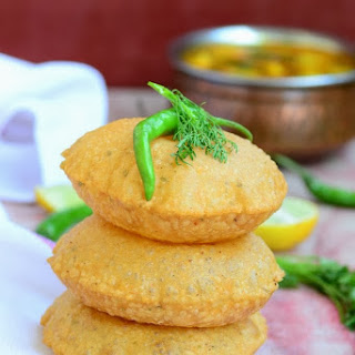 Bedmi Poori / Lentil Stuffed Fried Bread