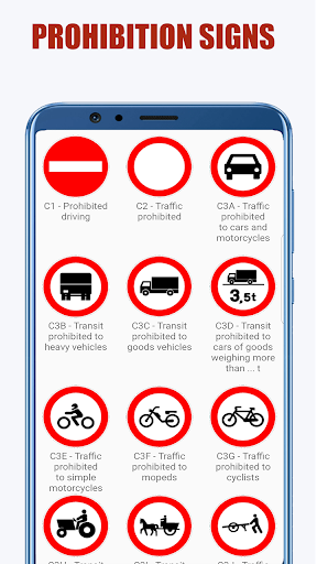 Traffic Signs: Road signs and meanings  screenshots 4