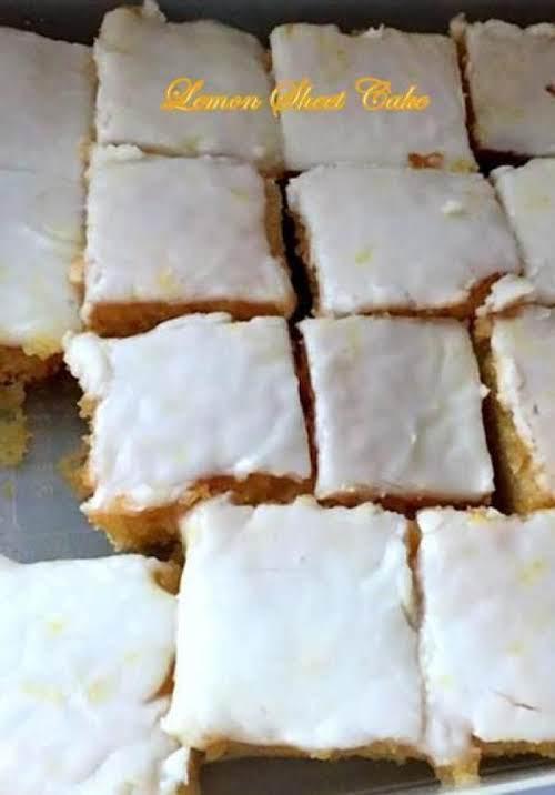 "Lemon Lovers' Sheet Cake ""Awesome cake. Took it to work. Everyone loved..."