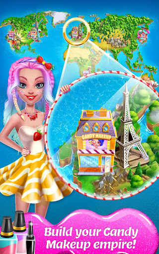 Candy Makeup Beauty Game - Sweet Salon Makeover apkpoly screenshots 5