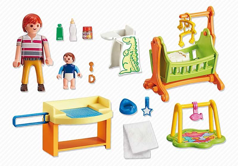 Contenido real de Playmobil® 5304 Habitación del Bebé con Cuna