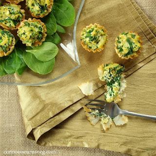 Spinach Vegan Mini Quiches.