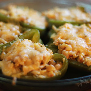 Chicken and White Bean Stuffed Peppers.