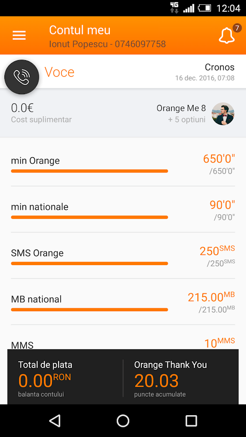 Contul meu Orange- screenshot