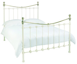 Antique Victorian style Metal bedstead