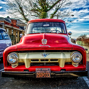 red truck by Lennie L. - Transportation Automobiles (  )
