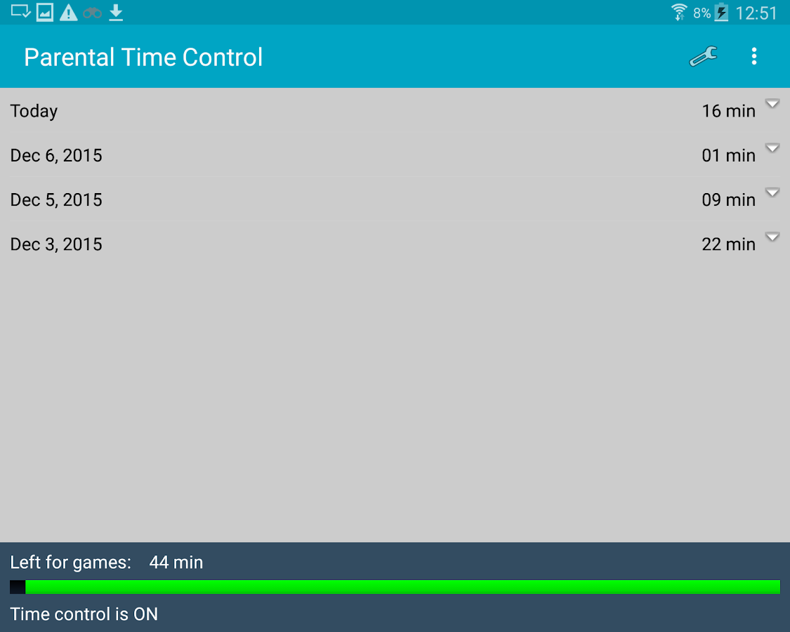 Parental Time Control- screenshot