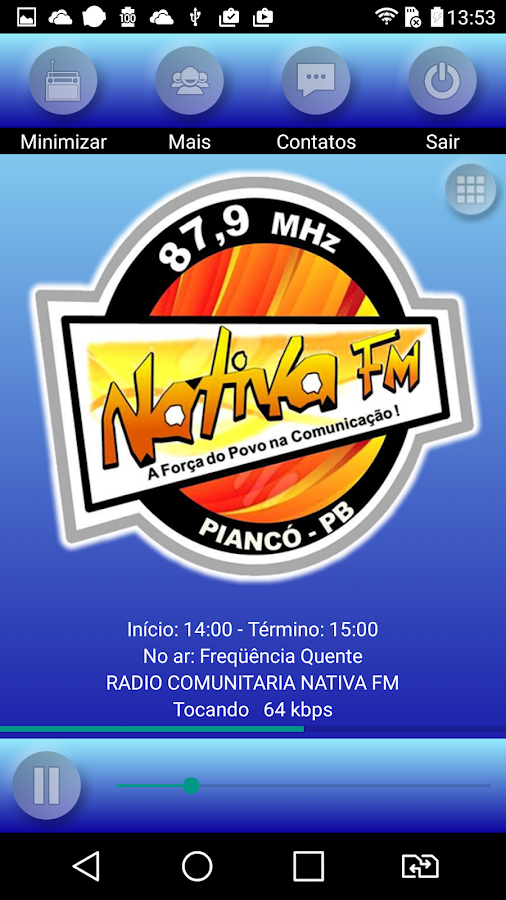 Rádio Nativa FM 87.9 Piancó-PB- screenshot