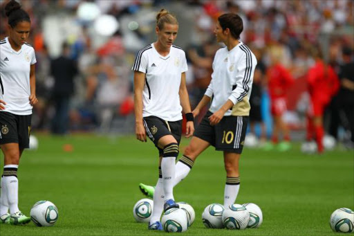 Germany during the 2011 FIFA Women's World Cup match between Germany and Canada at Olympiastadion on June 26, 2011 in Berlin, Germany