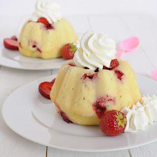 Strawberry Mini Bundt Cake.